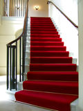 Red carpet stairwell Royalty Free Stock Image