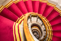 Red carpet. Stairwell in the Polish palace. Royal castle in Warsaw. Royalty Free Stock Images
