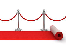 Red carpet and stanchions Stock Photos
