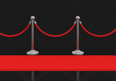 Red Carpet and stanchions Royalty Free Stock Photo