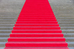 Red carpet on steps Royalty Free Stock Photo