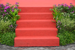 Red Carpet Steps Stock Images