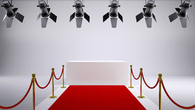 Red carpet at the studio Royalty Free Stock Images