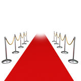 Red carpet in studio Stock Images