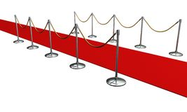 Red carpet in studio Stock Photography