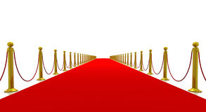 Red Carpet of Success Stock Photos