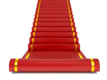 Red carpet on the success ladder. Concept. 3d illustration Stock Images