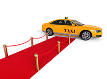 Red carpet Taxi concept Stock Photography