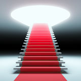 Red carpet to the future. Royalty Free Stock Photo