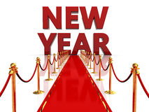 Red carpet to new year Stock Images