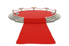Red carpet to podium. Photo-realistic illustration of a Red Carpet to a stage Stock Images