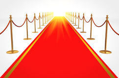 Red carpet to success Royalty Free Stock Images