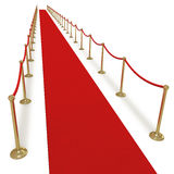 Red carpet treatment Royalty Free Stock Images
