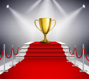 Red Carpet With Trophy Royalty Free Stock Images