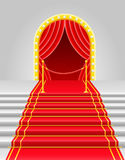 Red carpet with turnstile vector illustration Stock Image