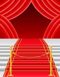 Red carpet with turnstile vector illustration Stock Image