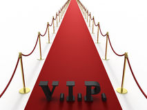 Red carpet with V.I.P. sign Royalty Free Stock Photo