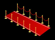 Red carpet vector Stock Photo