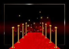 Red carpet vector background. Hollywood luxury and elegant red carpet event in perspective illustration. Vip Red color carpet vector illustration