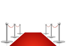 Red carpet vector illustration. Awards show background Stock Image