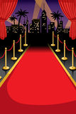Red carpet. A vector illustration of red carpet with copyspace vector illustration
