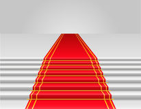 Red carpet vector illustration Royalty Free Stock Image