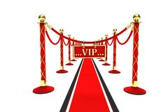 A red carpet and velvet rope Royalty Free Stock Photos