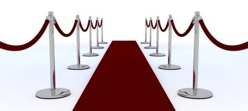 Red carpet and velvet rope Royalty Free Stock Photos