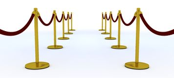 Red carpet and velvet rope Stock Photo