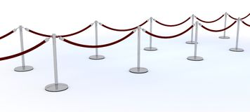 Red carpet and velvet rope Royalty Free Stock Photography