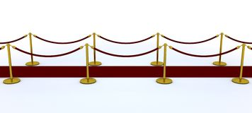 Red carpet and velvet rope Stock Photos