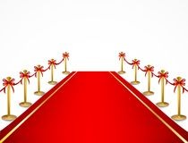 Red carpet and velvet rope. Vector Royalty Free Stock Photos