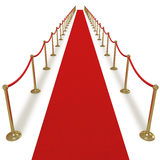 Red carpet VIP treatment Royalty Free Stock Photos