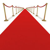 Red carpet VIP treatment Royalty Free Stock Image