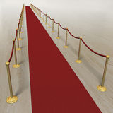 Red carpet VIP treatment on marble background Royalty Free Stock Image