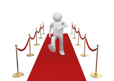 Red carpet walker Royalty Free Stock Image