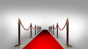 Red carpet on white 3d render Stock Image