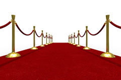 Red carpet on white background Royalty Free Stock Image