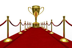 Red carpet on white background Royalty Free Stock Photos