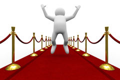 Red carpet on white background Royalty Free Stock Images