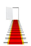 Red carpet on white stair Stock Image