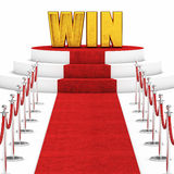 Red carpet win Stock Photography