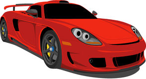 Red Carrera Race Car. A Vector .eps illustration of a High Performance Carrera Race Car. Saved in layers for easy editing. See my portfolio for more automotive stock illustration