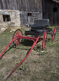 Red Carriage and Barn Royalty Free Stock Photos