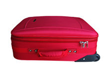 Red Carry-on Luggage Stock Photography