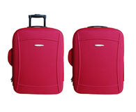 Red Carry-on Luggage Royalty Free Stock Images