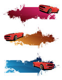 Red cars. And abstract banners Stock Image