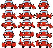 Red cars smiles Stock Photo