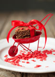 Red Cart with Biscuit Cookies Stock Photos