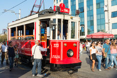 Red Cart in Istanbul Royalty Free Stock Photography